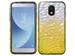 Insten Two Tone Diamond Textured Design Hard Plastic/Soft TPU Rubber Case Cover For Samsung