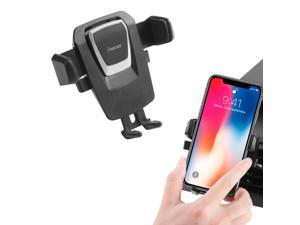 Insten Car Air Vent Phone Mount Stand Cradle Universal for iPhone XS X 8 7 Plus 6s SE Samsung Galaxy S9 S9+ S8 S8+ S7 Edge And any Android Cell Phone Smartphone