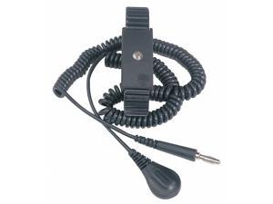 Desco Wrist Strap, ESD, W 6 Ft Cord  Includes 6 Ft Coiled Ground Cord 09085