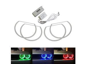 ce8b7b184b iJDMTOY 180-LED RGB Multi-Color LED Angel Eyes Halo Rings For 2008-