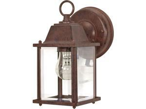 1-Light Wall Lantern Outdoor Light Fixture in Old Bronze Finish