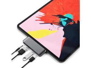 Satechi Aluminum Type-C Mobile Pro Hub Adapter with USB-C PD Charging, 4K HDMI, USB 3.0 & 3.5mm Headphone Jack