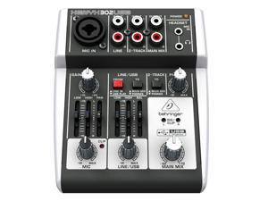 Behringer Xenyx 302USB 5-Input Mixer with USB IO PA or Recording Mixer with Computer IO