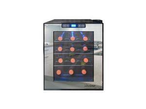Vinotemp VT-12TSBM 12-Bottle 12-Bottle Mirrored Thermoelectric Wine Cooler