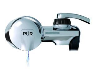 PUR PFM400H Advanced Chrome Horizontal Water Filtration Faucet Mount with 1 Mineral Clear Filter,100 gal