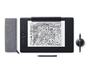 Wacom Intuos Pro Paper Edition digital graphic drawing tablet for Mac or PC, Large (PTH860P), NEW MODEL