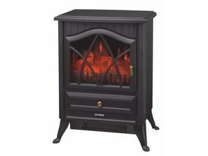 OPTIMUS H9310  H9310 BLACK ELECTRIC FLAME EFFECT FIREPLACE HEATER