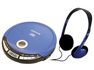 Craig Electronics CD2808BL Craig Cd2808bl Blue Personal Cd Player With Headphone