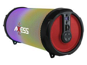 Axess SPBL1044RD Red LED Bluetooth Media Speaker with FM