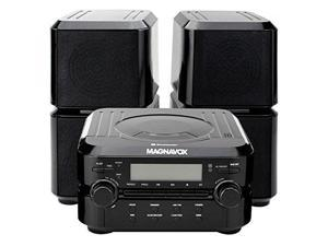 Magnavox Mm435 Black 3Pc Cd Shelf Stereo System ...