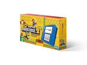 Nintendo 2DS Hardware Electric Blue 2 With Super Mario Bros 2