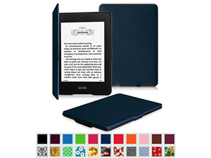 Fintie SmartShell Case for Kindle Paperwhite - The Thinnest and Lightest Leather Cover for All-New Amazon Kindle Paperwhite (Fits All versions: 2012, 2013, 2014 and 2015 New 300 PPI), Navy