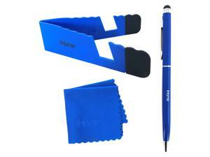 iHome Tablet and Smartphone 3-in-1 Microfiber Cloth, Stylus Pen & Stand Bundle - Blue