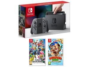 Nintendo Switch Gray 32 GB with Super Smash Bros & Donkey Kong Tropical Freeze