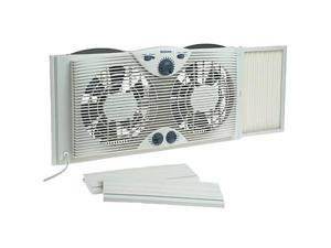 Holmes HAWF2041 Dual Blade Window Fan with Comfort Control Thermostat, White