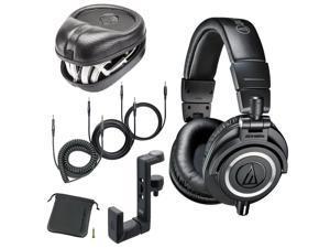 Audio-Technica ATH-M50x Headphones + Headphone Hanger + SL-HP-07 Headphone Case