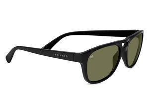 fc614cf6262d Serengeti Eyewear Sunglasses Tommaso 7954 Shiny Black Polarized 555nm Lens