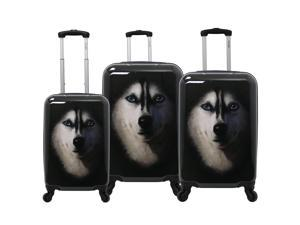 3ba193b9f Chariot Dog 3-Piece Expandable Hardside Lightweight Spinner Luggage Set ...