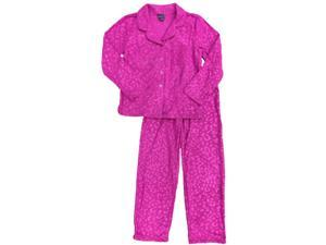 Womens Magenta Cheetah Pajamas Pink Leopard Animal Print Sleep Set ... 95123a3e2