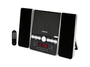 Craig CM427 Shelf Stereo CD Player & AM/FM Radio W/Dual Alarm Clock & Aux-in
