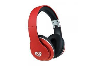 NCredible1 Bluetooth Wireless Headphones, Hi-Fi Stereo Tuned by Nick Cannon, Portable Foldable Headset - Red