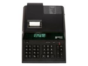 Monroe Systems 8130X Black Printing Calculator and Adding Machine for Accounting, Finance and Business / Heavy Duty