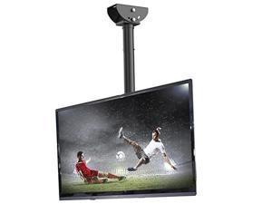"loctek cm1 adjustable tilting wall ceiling tv mount fits most 2655"" lcd led plasma monitor flat panel screen display"