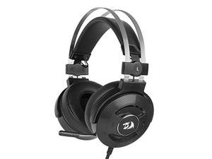 redragon h991 triton wired active noise canceling gaming headset, 7.1 channel surround stereo anc over ear headphone with mircophone, comfortable leather earbuds, with usb port, works for pc, notebook