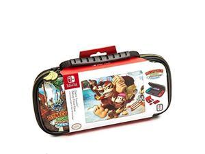 deluxe donkey kong travel case, designed to protect switch's analog sticks, 2 multigame cases  nintendo switch