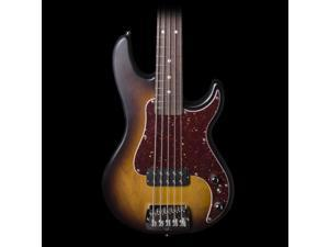 G&L Kiloton 5 String Bass In Flat Tobacco Sunburst w/ Case