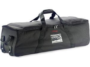 """Stagg 48"""" Percussion Stand Bag with Wheels- Black Nylon"""