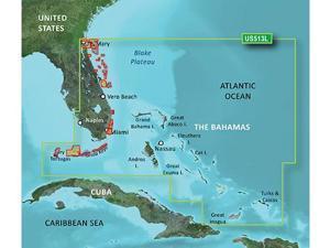 Garmin 010-C0742-00 Bluechart g2 vision VUS513L, Jacksonville - Bahamas (SD Card)