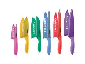 Cuisinart C77-12PMC 12 Piece Soft Grip Metallic Coated Knife Set with Blade Guards