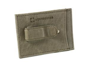 cc38688a4b95 Alpine Swiss Mens Money Clip Thin Front Pocket Wallet Genuine Leather Card  Case
