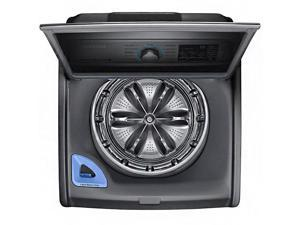 Samsung - 5.0 Cu. Ft. 11-Cycle High-Efficiency Top-Loading Washer - Platinum
