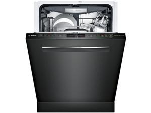 SHP878WD6N 24 800 Series Built-In Pocket Handle Dishwasher with 16 Place Settings  6 Cycles  6 Options  42 dBA Noise Level  Flexible 3rd Rack  RackMatic  and Aquastop  in Black