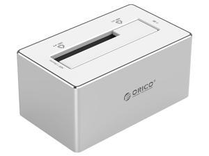 ORICO Aluminum 3.5 inch SATA3.0 and USB3.0 Hard Drive Docking Station for 2.5 & 3.5 inches HDD up to 4TB - Silver (6818US3-SV)