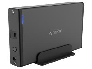 "ORICO USB-C Type-C Aluminum 3.5 inch  Hard Drive HDD Enclosure USB-C Gen 1 SATA3.0 3.5"" HDD Docking Station Vertical Case Support UASP with Power Adapter for HDD and SSD Tool Free"