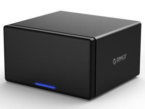 "Support 80TB Max ORICO 5-Bay 3.5"" USB3.0 to SATAIII External Hard Drive HDD Dock Enclosure for 3.5 inch  HDD SSD -Black"