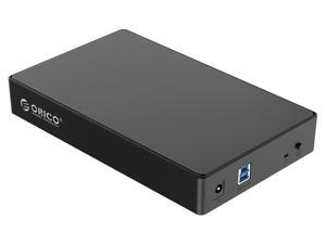 ORICO 3.5 inch Full Mesh External Hard Drive Enclosure SATA 3.0 to USB 3.0 Super Speed 5Gbps Support UASP Protocol ( 4TB SSD and 2TB HDD)