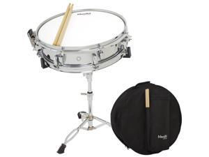 "Mendini by Cecilio Student 14"" Snare Drum Set with Soft Case, Drum Sticks and Stand"