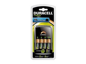 DURACELL Charger AA/AAA NIMH Includes 4 AA Batteries Ion Speed 8000 CEF15