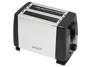 Brentwood TS-280S Stainless Steel and Black Toaster