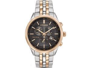Men's Two-Tone Citizen Eco-Drive Chronograph Dress Watch AT2146-59E
