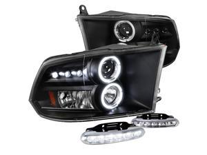 SMOKED HOUSING HEADLIGHT CLEAR CORNER+WHITE LED 9006 HID+FAN FOR 99-04 CHEROKEE