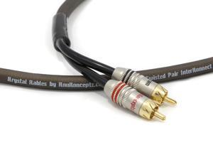 KnuKonceptz Krystal Kable 2 Channel 6M Twisted Pair RCA Cable
