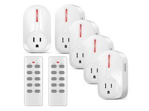 Wireless Outlet Switch with Remote Control - Wirelessly Turn Power On Off Wireless Electrical Outlet Plug