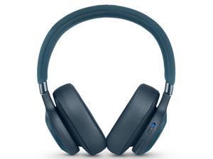 JBL E65BTNC Wireless Over-Ear Noise-Cancelling Headphones with Mic and One-Button Remote (Blue)