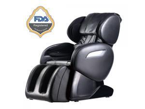 BestMassage Electric Full Body Shiatsu Massage Chair Foot Roller Zero Gravity w/Heat 55 - Black