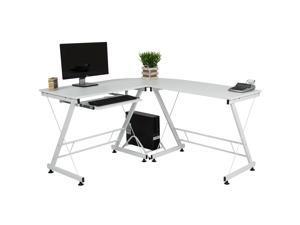 Best Choice Products Wood L Shape Corner Computer Desk Pc Laptop Table Workstation